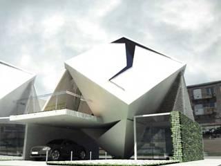 AGE/Alejandro Gaona Estudio 被動式房屋 複合木地板 White