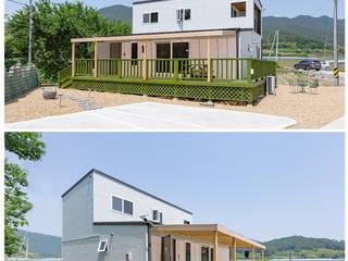 Casas de madera de estilo  por 공간제작소(주), Moderno