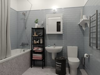 Scandinavian style bathrooms by Ассоль Уколова Scandinavian