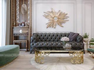 Thiết kế nội thất chung cư Imperial Plaza 360 Giải Phóng: hiện đại  by Công ty cổ phần kiến trúc nội thất Home&Home, Hiện đại