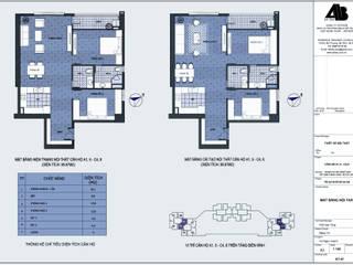 Thiết kế nội thất chung cư UDIC WestLake - A1,5 ; C4,8 Thiết Kế Nội Thất - ARTBOX