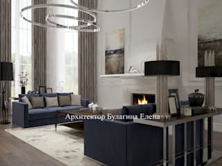 Salones de estilo clásico de Архитектурное Бюро 'Капитель' Clásico