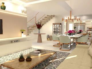 Casa Clássica Salas de estar clássicas por Joana Rezende Arquitetura e Arte Clássico
