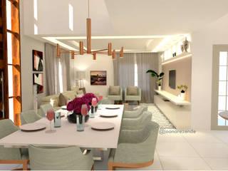 Joana Rezende Arquitetura e Arte Classic style dining room Amber/Gold