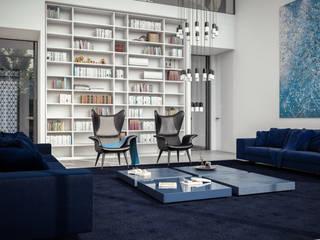 Villa Riyad Soggiorno minimalista di Aeon Studio Minimalista