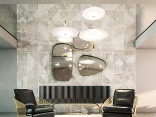 Villa El Sherif Ingresso, Corridoio & Scale in stile minimalista di Aeon Studio Minimalista