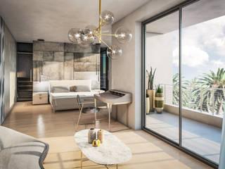 Villa El Sherif Camera da letto minimalista di Aeon Studio Minimalista