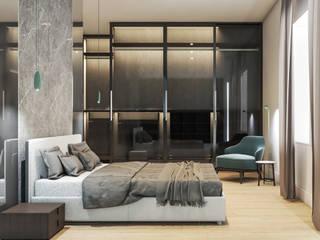Villa DC Camera da letto minimalista di Aeon Studio Minimalista