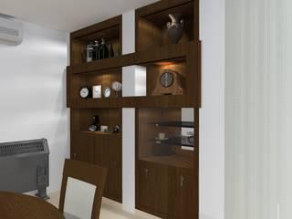 Decoración de interior y diseño de mobiliario a medida en vivienda unifamiliar. de Lucila Valeri Clásico