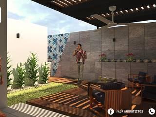 Hiên, sân thượng phong cách hiện đại bởi AJR ARQUITECTOS Hiện đại
