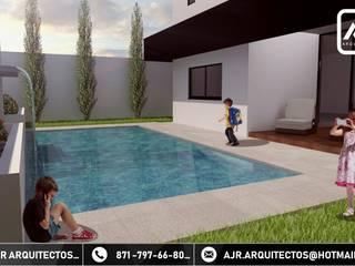 Hồ bơi phong cách hiện đại bởi AJR ARQUITECTOS Hiện đại