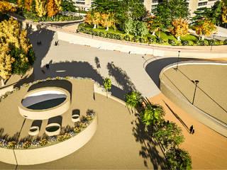 Diseño Paisajistico Parque Bicentenario: Centros Comerciales de estilo  por SPATIA, Mediterráneo