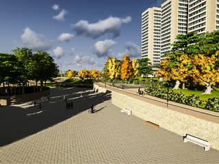 Diseño Paisajistico Parque Bicentenario: Lugares para eventos de estilo  por SPATIA, Mediterráneo