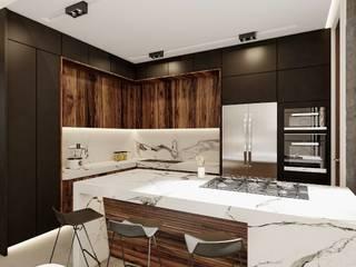 Increíble diseño de casa de lujo Cocinas modernas de Rebora Arquitectos Moderno