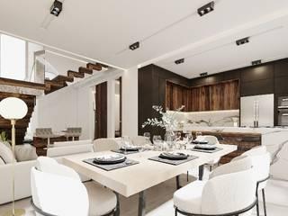 Increíble diseño de casa de lujo Comedores minimalistas de Rebora Arquitectos Minimalista