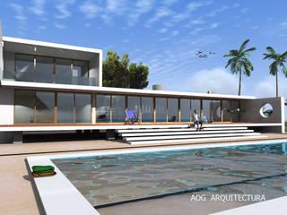 Casas unifamiliares de estilo  por AOG, Mediterráneo