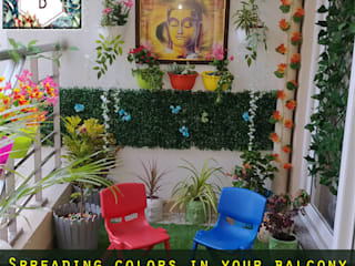 Balcony Decoration in Cleo County, Sector 121, Noida Balcony Makeover and Decorators