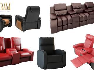 Realistici servizi di modellazione e visualizzazione di divani sedia 3D con 3D Product Animation Studio di Yantram Design Studio di architettura Moderno