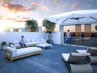Diseño de solarium de ARQUIJOVEN SLP Moderno