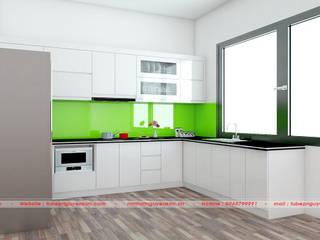 Mẫu tủ bếp acrylic an cường đã thi công bởi Nội thất Nguyễn Kim bởi Nội thất Nguyễn Kim