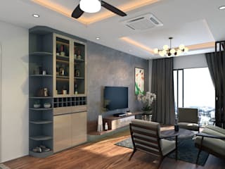 Skylake 1 Phòng khách phong cách kinh điển bởi PGdecor Kinh điển