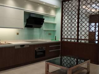 Thiết kế và thi công nội thất biệt thự Greenbay Mễ Trì Nhà bếp phong cách hiện đại bởi PGdecor Hiện đại