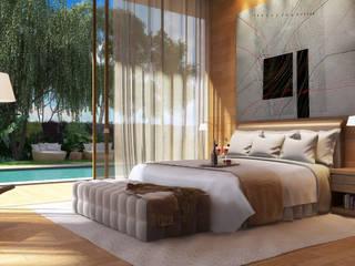 Moderne Schlafzimmer von Viviane Cunha Arquitectura Modern