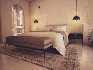 Aménagement une chambre d'hôtel Chambre moderne par Sabrine Ayadi Moderne