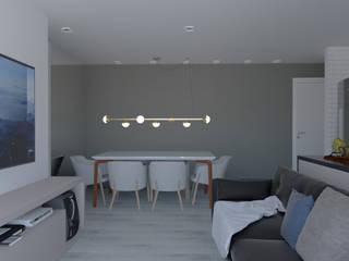APARTAMENTO SÃO CAETANO DO SUL Salas de jantar modernas por DALL' ANESE ARQUITETURA Moderno