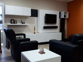 Diseño y decoración de sala de estar de quincho social privado. de Lucila Valeri Moderno