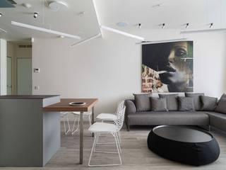 Ruang Keluarga Minimalis Oleh Архитектор Татьяна Стащук Minimalis