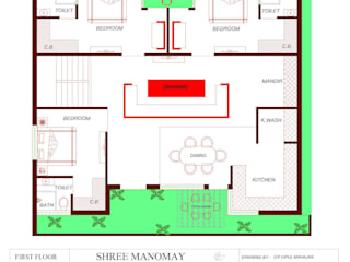 RESIDENTIAL PRIJECT @ RISHIKESH: modern  by Shree Manomay Architects and Engineers,Modern