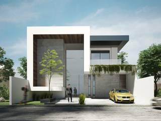 Lujosa Residencia moderna Casas minimalistas de Rebora Arquitectos Minimalista