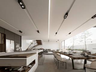 Lujosa Residencia moderna Comedores modernos de Rebora Arquitectos Moderno