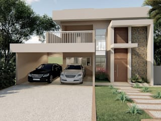 D.O.S. Arquitetura Single family home Concrete Beige
