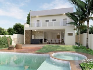 D.O.S. Arquitetura Single family home Concrete White