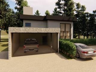 D.O.S. Arquitetura Small houses Concrete Beige