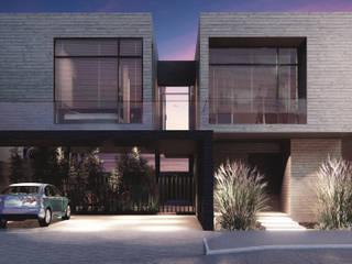 RESIDENCIA CAROLCO: Casas unifamiliares de estilo  por Espacio Arquitectura, Minimalista