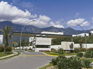 RESIDENCIA CAROLCO: Jardines de piedra de estilo  por Espacio Arquitectura, Minimalista