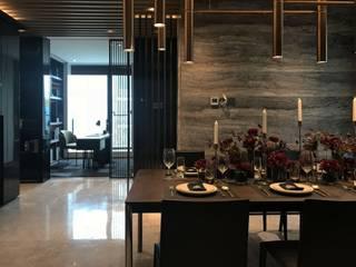 Salas de estilo moderno de 漫漫發想室內設計 Moderno