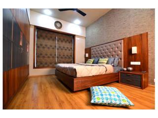2BHK Gaurav and Seema | Balewadi, Pune | 2017:  Bedroom by Nikhil Kanthe,Minimalist