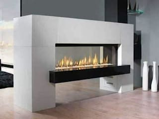Fireplace: modern  by Paul Architects and Interiors,Modern