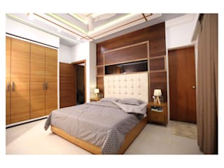 3BHK | Mr. Nikhil Jathar | Future Towers, Amnora Hadapsar, Pune:  Bedroom by Nikhil Kanthe,Modern