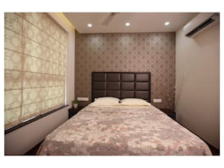 3BHK | Mr. Nikhil Jathar | Future Towers, Amnora Hadapsar, Pune Modern style bedroom by Nikhil Kanthe Modern