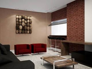 Apartamento moderno: Salas de estar  por Outline Arquitetura,Moderno