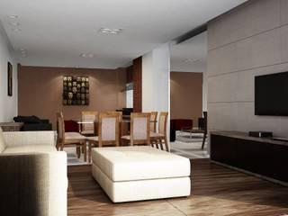 Apartamento moderno: Salas de jantar  por Outline Arquitetura,Moderno