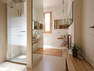 Naturalmente Legno Srl Modern style bathrooms Wood