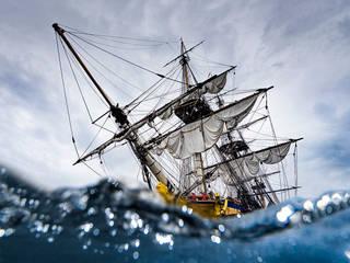Photographies du bateau l'Hermione aqua par Ewan Photographe de mer