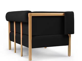 COD armchair - beech wood and fabric por Porventura Moderno