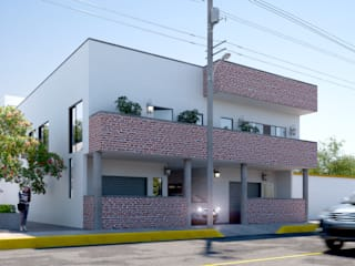 San Bartolomé FASETIK arquitectura Casas unifamiliares Ladrillos Blanco